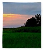 Summer Sunset At East Point Light Fleece Blanket