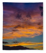 Summer Sunset Colorado Fleece Blanket