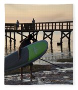 Summer Surfer Fleece Blanket