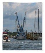 Summer Time Boating Fleece Blanket