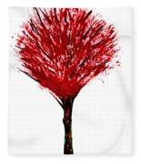Summer Tree Painting Isolated Fleece Blanket