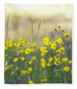 Summer Wildflowers On The Rim  Fleece Blanket