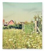 Summer Wildflowers Fleece Blanket