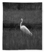Summer's Night Egret Fleece Blanket