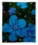 Summertime Blues Pop Art Fleece Blanket