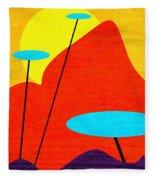 Summertime Blues Fleece Blanket