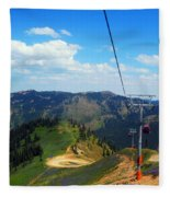 Summertime Chairlift Ride Fleece Blanket