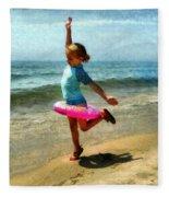 Summertime Girl Fleece Blanket