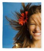 Summery Model Fleece Blanket