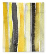 Sun And Shadows- Abstract Painting Fleece Blanket