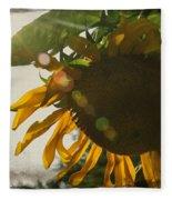 Sun And Sunflower Fleece Blanket