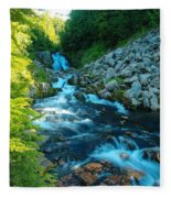 Sun Beam Falls Fleece Blanket