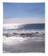 Sun Diamonds On The Surf Fleece Blanket