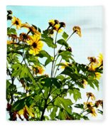 Sun Flowers In The Sun Fleece Blanket