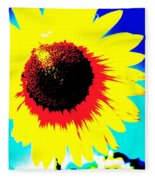 Sun Flowers Fleece Blanket