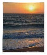 Sun Glistening On The Water Fleece Blanket