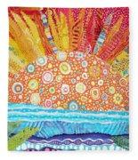 Sun Glory Fleece Blanket