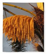 Sun Glowing Palm Fleece Blanket