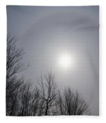 Sun Halo Through The Trees Fleece Blanket