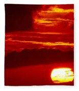 Sun In Descent Fleece Blanket