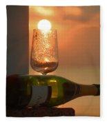 Sun In Glass Fleece Blanket
