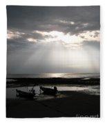 Sun In The Clouds Fleece Blanket