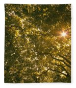 Sun In The Trees Fleece Blanket