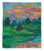 Sun In Water Fleece Blanket