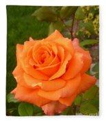 Sun Kiss Orange Fleece Blanket