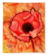 Sun Kissed Poppy Fleece Blanket