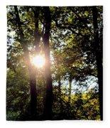 Sun Kissed Trees Fleece Blanket