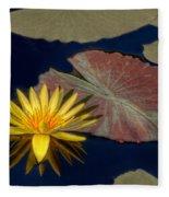 Sun-kissed Water Lily Fleece Blanket