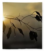 Sun Leaves Fleece Blanket