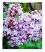 Sun Lit Lilac The Sweet Sign Of Spring Fleece Blanket