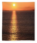 County Kerry Sunset  Fleece Blanket