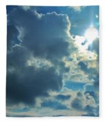 Sun Peeping Out Fleece Blanket