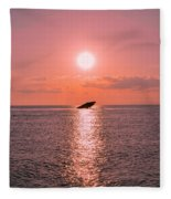 Sun Setting On Atlantus Fleece Blanket