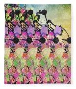 Sun Showers On Flowers Fleece Blanket