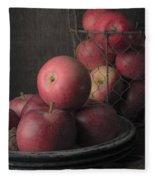 Sun Warmed Apples Still Life Fleece Blanket