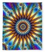 Sun Wheel 2 Fleece Blanket