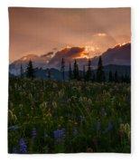 Sunbeam Garden Fleece Blanket