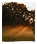 Sunbeams And Fog Fleece Blanket