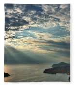 Sunbeams On Dubrovnik Fleece Blanket