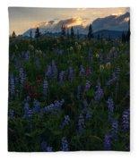 Sunbeams Over Rainier Fleece Blanket