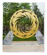 Sunbird Sculpture, Chengdu, China Fleece Blanket
