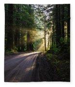 Sunburst At Redwood National Park Fleece Blanket