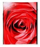 Sunburst On Red Rose With Framing Fleece Blanket
