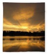 Sunburst Reflection Fleece Blanket