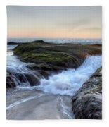 Sunday Evening Fleece Blanket