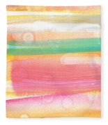 Sunday In The Park- Contemporary Abstract Painting Fleece Blanket